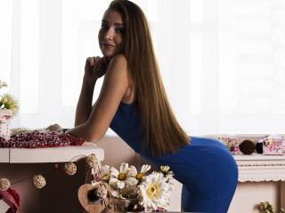 Picture of the sexy profile of EvaStorm, for a very hot webcam live show !
