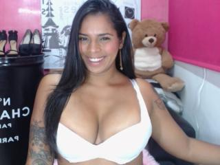Sexet profilfoto af model SweetFontaineX, til meget hot live show webcam!