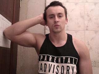 Photo de profil sexy du modèle Andrej, pour un live show webcam très hot !