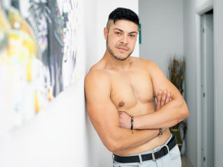 Photo de profil sexy du modèle AllanMacho, pour un live show webcam très hot !