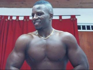 Photo de profil sexy du modèle BigBlackMuscle, pour un live show webcam très hot !